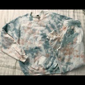 Camo Tie Dye Sweatshirt and Joggers Set